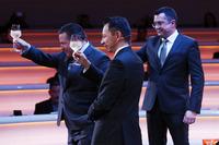 Yusuke Hasegawa, Honda, Zak Brown, McLaren Technology Group Direktörü, Eric Boullier, Yarış Direktörü, McLaren