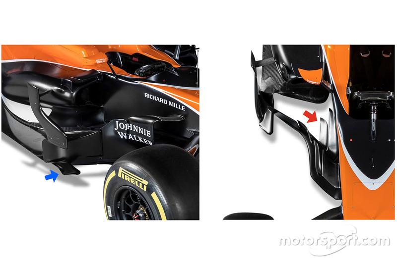 McLaren MCL32 bargeboards