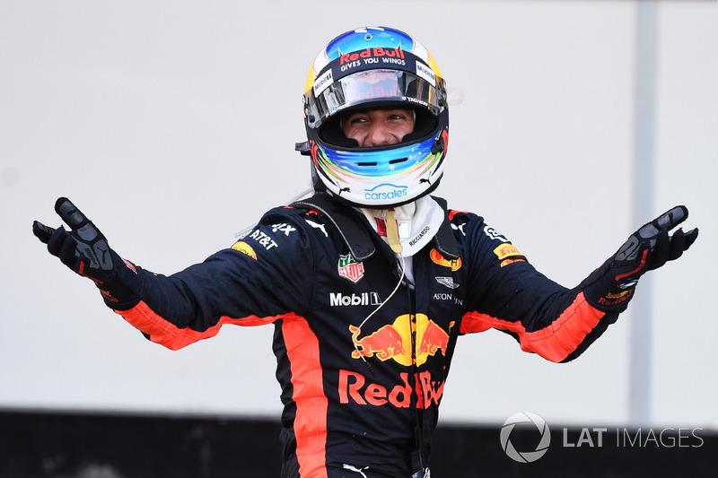 Yarış galibi Daniel Ricciardo, Red Bull Racing, parc ferme