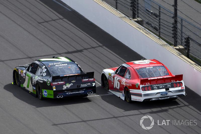 Justin Allgaier, JR Motorsports Chevrolet, Ryan Reed, Roush Fenway Racing Ford