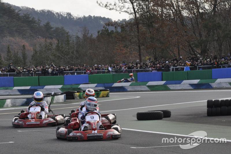 Takuma Sato, Stoffel Vandorne, Fernando Alonso