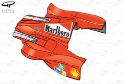 Ferrari F399 sidepod and engine cover bodywork