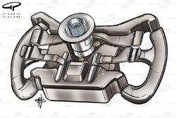 McLaren MP4-19 steering wheel