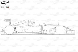 Caterham CT05 outline (side view)