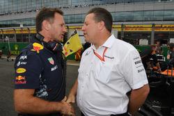 Руководитель Red Bull Racing Кристиан Хорнер и исполнительный директор McLaren Technology Group Зак Браун