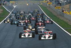 Start: Gerhard Berger, McLaren MP4/6 Honda; Ayrton Senna, McLaren MP4/6 Honda