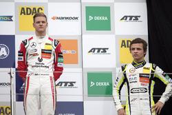 Rookie Podium: Mick Schumacher, Prema Powerteam, Dallara F317 - Mercedes-Benz and Lando Norris, Carlin, Dallara F317 – Volkswagen