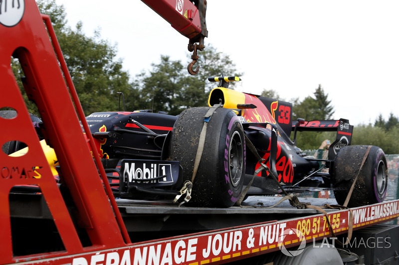Red Bull Racing RB13 Макса Ферстаппена після сходу