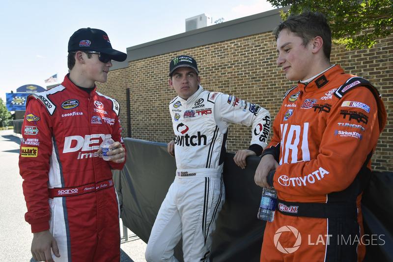 Harrison Burton, Kyle Busch Motorsports, Toyota; Noah Gragson, Kyle Busch Motorsports, Toyota; Chris