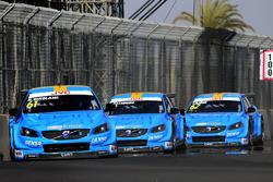 Nestor Girolami, Polestar Cyan Racing, Volvo S60 Polestar TC1; Nicky Catsburg, Polestar Cyan Racing, Volvo S60 Polestar TC1; Thed Björk, Polestar Cyan Racing, Volvo S60 Polestar TC1