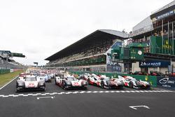 Foto de grupo de los coches 2017