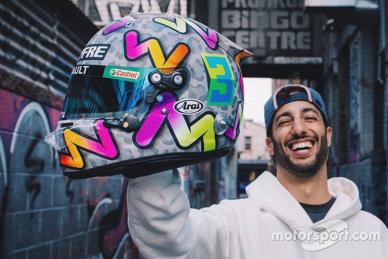 Le casque de Daniel Ricciardo
