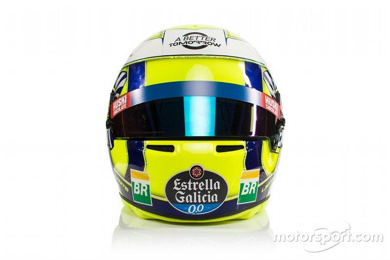 Шлем Ландо Норриса (дебютный сезон в Ф1)