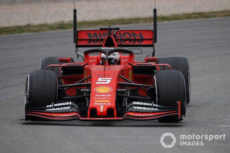 Sebastian Vettel, Ferrari SF90 con sensori aerodinamici