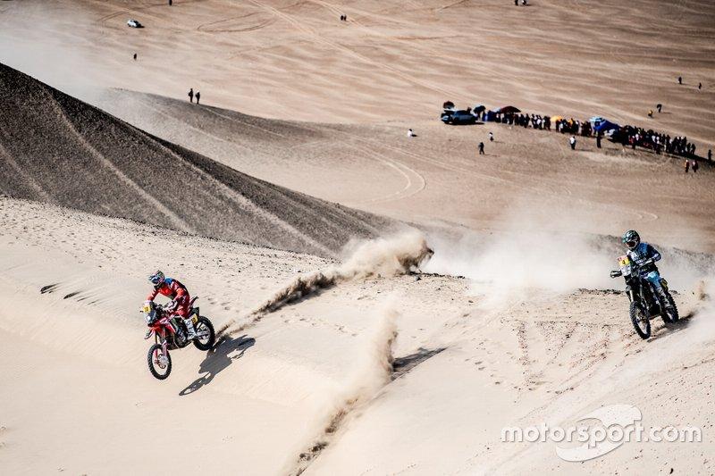 #10 Monster Energy Honda Team Honda: José Ignacio Cornejo Florimo, #4 Yamaha Official Rally Team: Adrien van Beveren