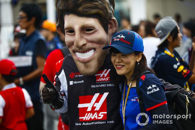 Romain Grosjean, Haas F1 Team taraftarı