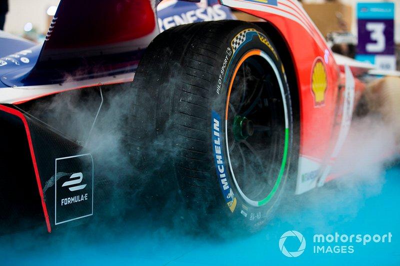 Pneumatico Michelin sulla monoposto di Jérôme d'Ambrosio, Mahindra Racing, M5 Electro