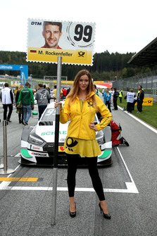 Grid girl of Mike Rockenfeller, Audi Sport Team Phoenix