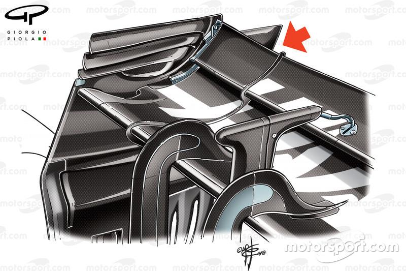 Aileron arrière de la Haas VF-18, GP de Belgique