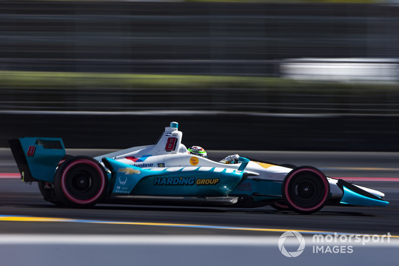 Patricio O'Ward made his IndyCar debut with Harding at Sonoma last year but how many races will he get in 2019?