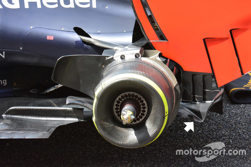 Red Bull Racing RB12, Heckbereich-Detail