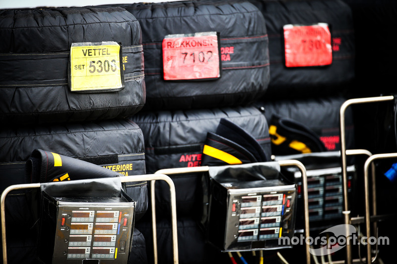Reifenwärmer für das Ferrari Team