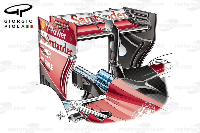Ferrari SF16-H, Heckflügel, Grand Prix von Europa