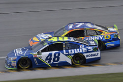 Jimmie Johnson, Hendrick Motorsports Chevrolet and Ricky Stenhouse Jr., Roush Fenway Racing Ford