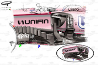 Force India VJM10: Windabweiser, Vergleich