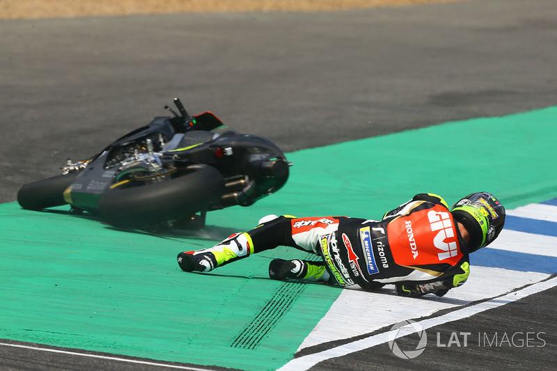 Cal Crutchlow, Team LCR Honda crash