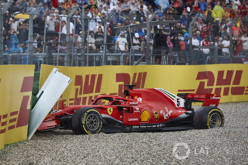 Abandon : Sebastian Vettel (Ferrari)