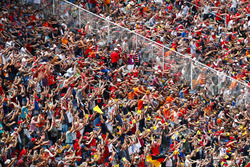 German fans wave