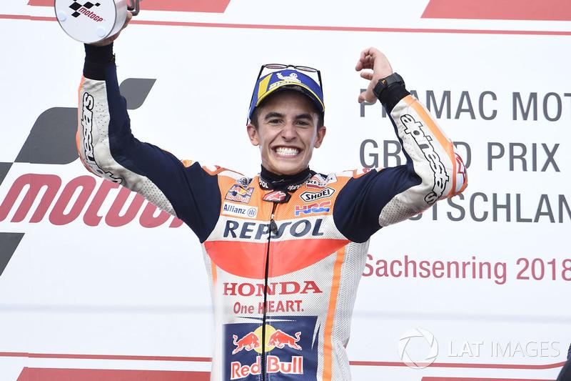 Podio: ganador de la carrera Marc Marquez, Repsol Honda Team