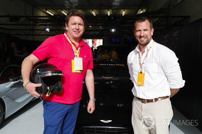 Гран При Бахрейна: шеф-повар и телеведущий Джеймс Мартин и член британской королевской семьи Питер Филлипс