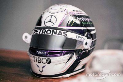 Lewis Hamilton helmet unveil