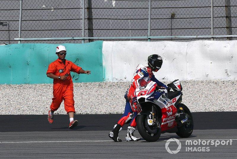 Francesco Bagnaia, Pramac Racing tras el accidente