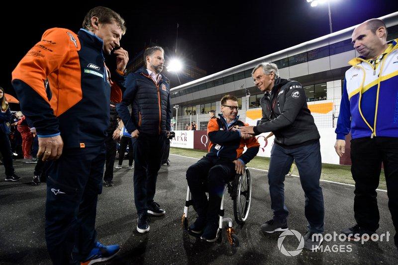 Майк Ляйтнер, керівник проекту Red Bull KTM Factory Racing, Піт Байрер, керівник заводського гоночного підрозділу KTM