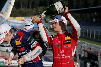 Podio: Robert Shwartzman, PREMA Theodore Racing Dallara F317 - Mercedes-Benz, Mick Schumacher, PREMA Theodore Racing Dallara F317 - Mercedes-Benz