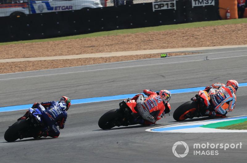 Марк Маркес, Repsol Honda Team, Андреа Довіціозо, Ducati Team, Маверік Віньялес, Yamaha Factory Racing
