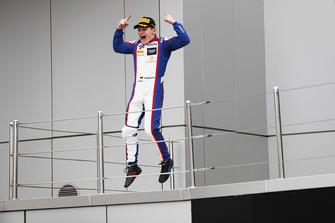 Podium: race winner David Beckmann, Trident