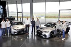 Consegna delle prime due Audi RS 3 LMS TCR, Simon Caddy, James Kaye (Cadspeed Racing), Chris Reinke (Audi Sport customer racing), Stephan Winkelmann (Audi Sport GmbH), Dalius Steponavicius, Sven Harder, Kristina Steponavice (Speed Factory Racing)