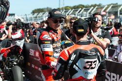 Second place Chaz Davies, Ducati Team, third place Marco Melandri, Ducati Team