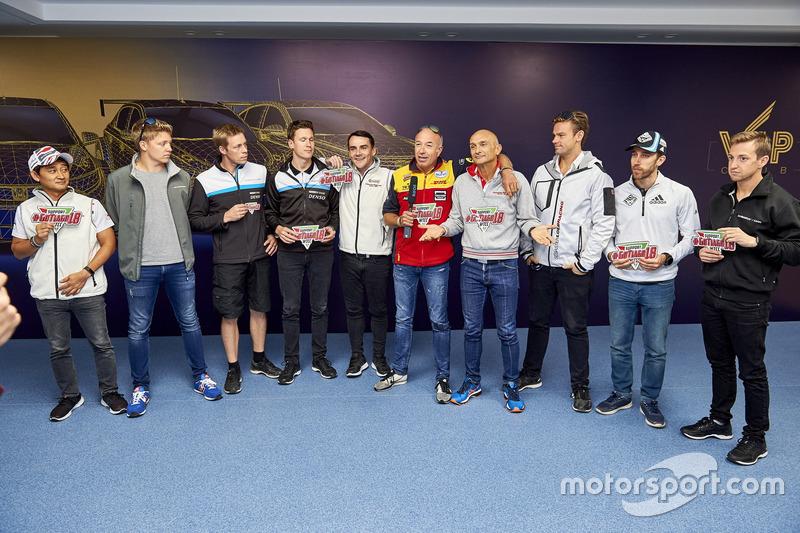 All drivers sending wishes to Tiago Monteiro, Honda Racing Team JAS, Honda Civic WTCC