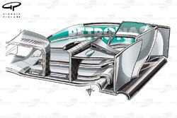 Mercedes W04 front wing camera