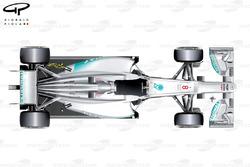 Mercedes W03 top view