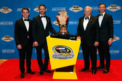 Champion Jimmie Johnson, Hendrick Motorsports Chevrolet and team owner Rick Hendrick, crew chief Chad Knaus, Jeff Gordon