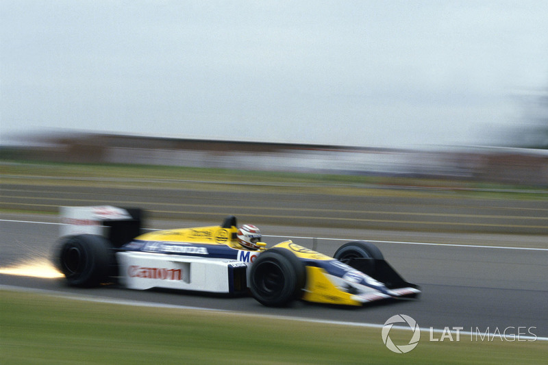 19. Нельсон Пике, Williams FW11B, Гран При Великобритании-1987 (Сильверстоун): 1:07,110