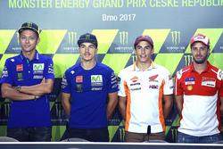 Valentino Rossi, Yamaha Factory Racing, Maverick Viñales, Yamaha Factory Racing, Marc Márquez, Repsol Honda Team, Andrea Dovizioso, Ducati Team