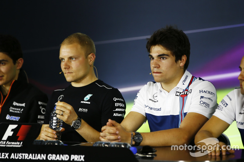 Pressekonferenz: Esteban Ocon, Force India; Valtteri Bottas, Mercedes AMG; Lance Stroll, Williams; Felipe Massa, Williams