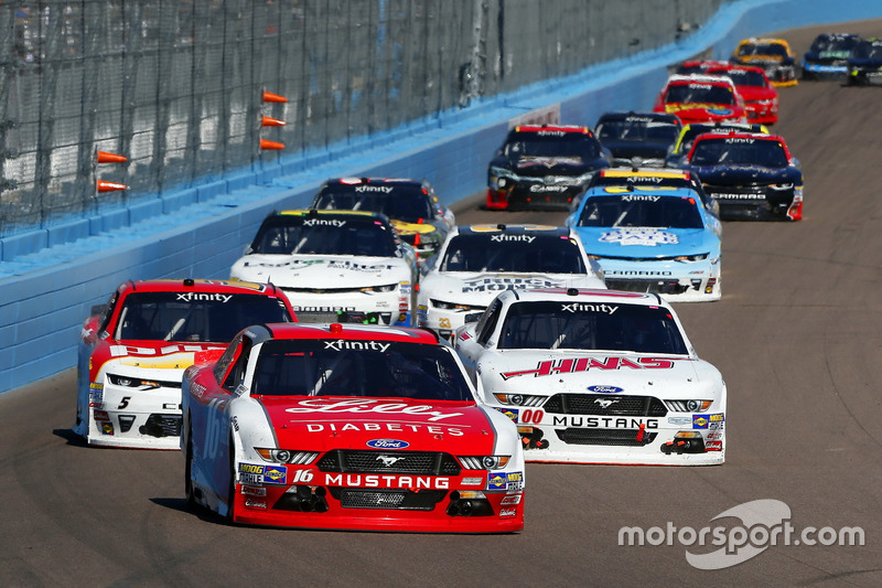 Ryan Reed, Roush Fenway Racing, Ford; Cole Custer, Stewart-Haas Racing, Ford